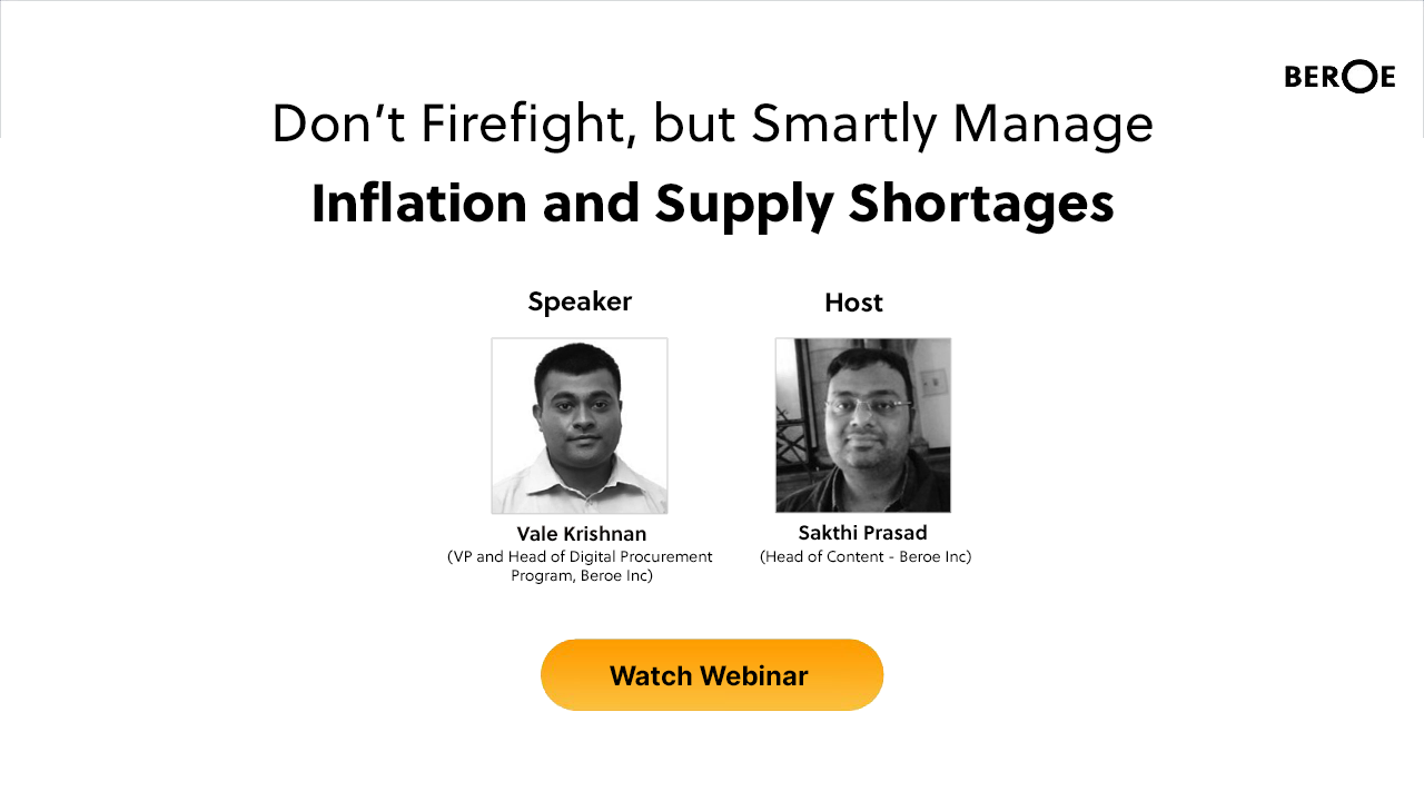 Webinar Don't Firefight, but Smartly Manage Inflation and Supply Shortages