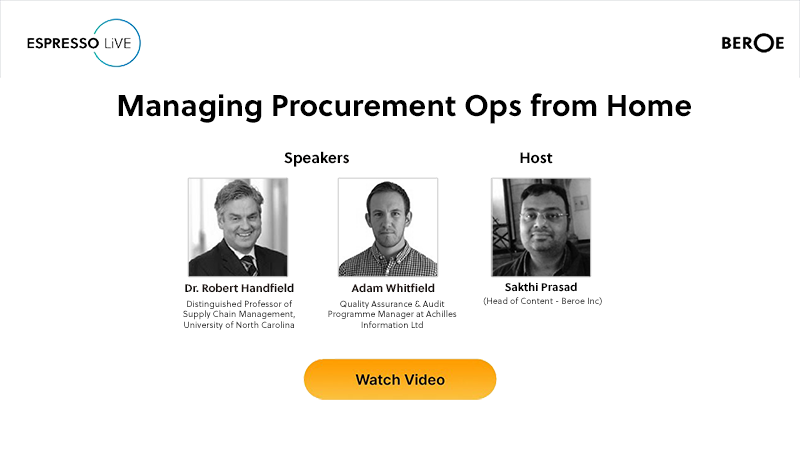 Espresso LiVE: Managing Procurement Ops from Home