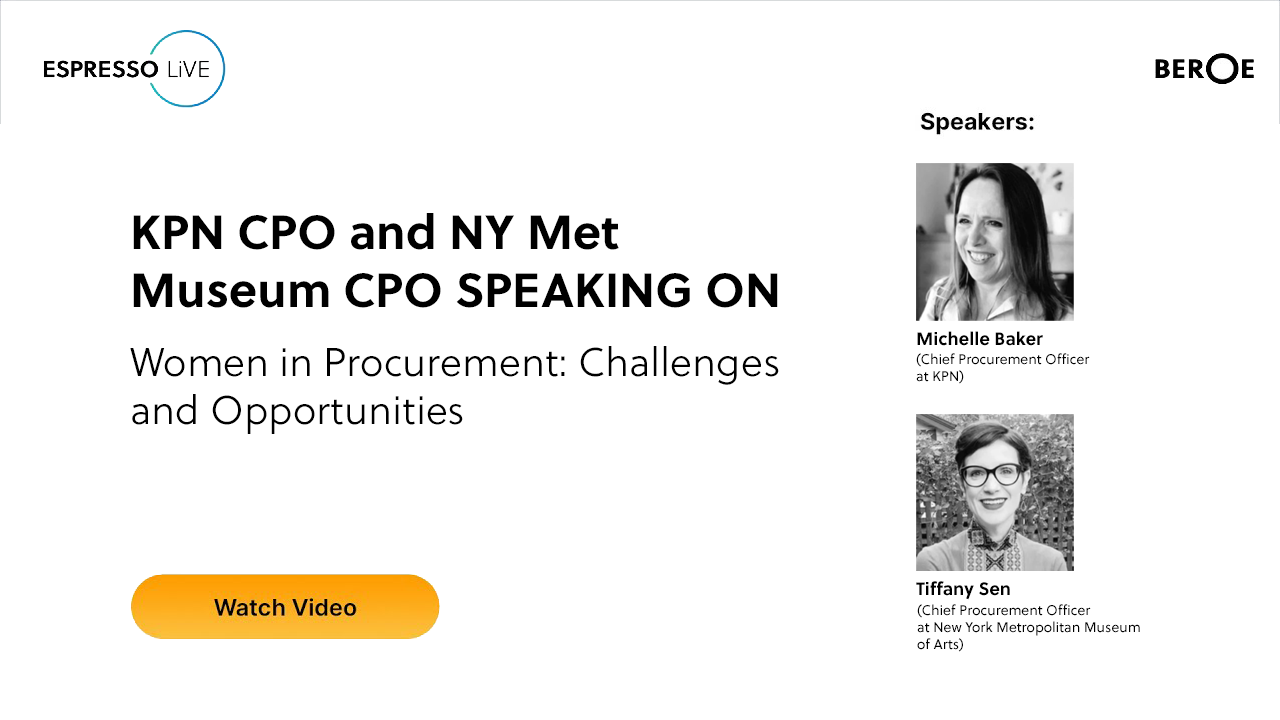 Espresso LiVE -- Women in Procurement: Challenges and Opportunities