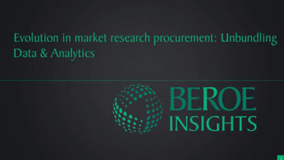 Evolution in market research procurement: Unbundling data & analytics