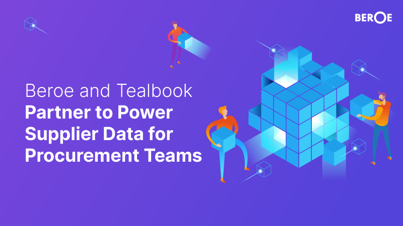 Beroe and Tealbook Partner to Power Supplier Data for Procurement Teams