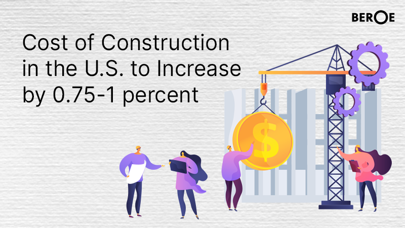 Cost of Construction in the U.S. to Increase by 0.75-1 percent, says Beroe Inc