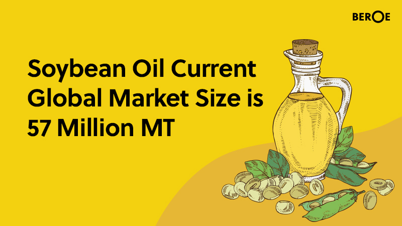 Soybean Oil Current Global Market Size is 57 Million MT, Says Beroe Inc