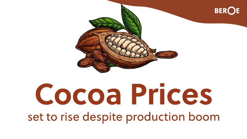 Cocoa prices set to rise despite production boom