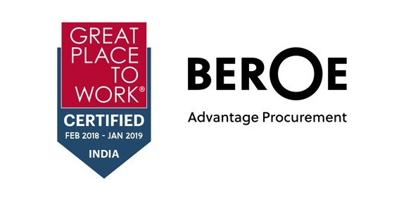 Beroe Inc is certified as a Great Place to Work, Yet again..!