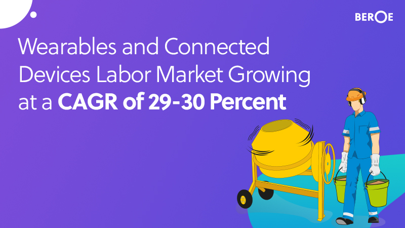 Wearables and Connected Devices Labor Market Growing at a CAGR of 29-30 Percent, Says Beroe Inc