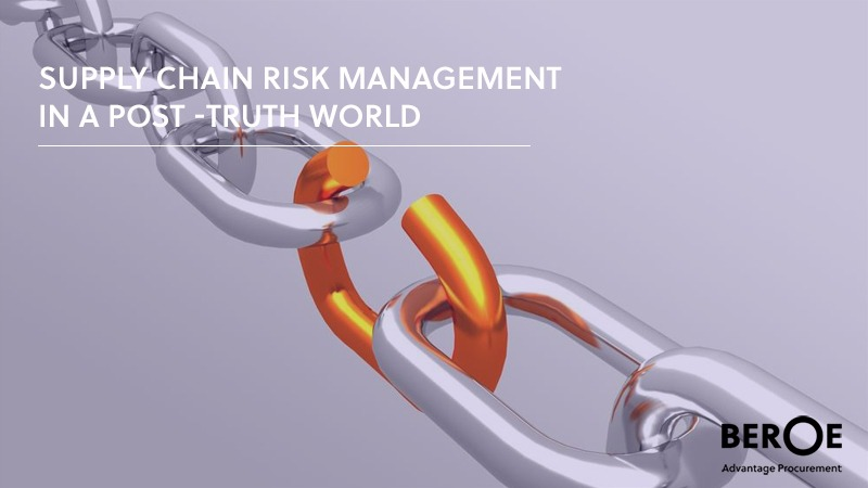 Supply Chain Risk Management post-truth
